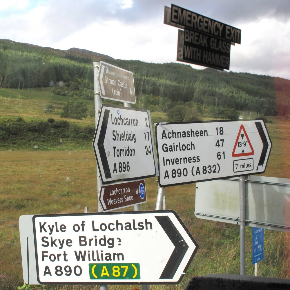 Road Signs in Scotland