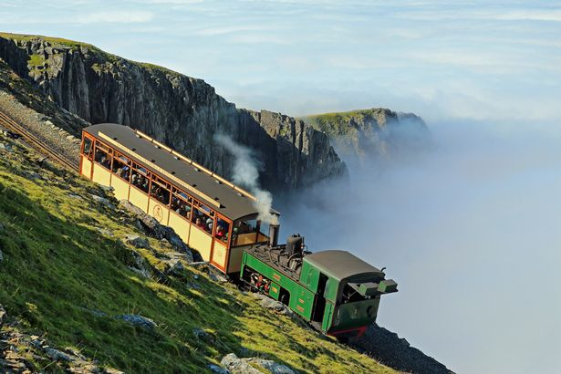 """Snowdon Steam Train along the """"rooftop of Wales"""""""