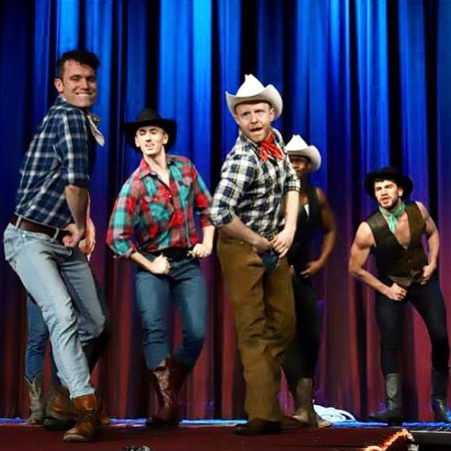 4/6/19 'The Bidding Jamboree' for @nightofathousandgowns sponsored by @bcefa benefiting @tp_shelter So thrilled to create a gay cowboy fantasia with the best group of boot scootin' bronco busters! Truly, you can't keep a good hoedown. Featuring @victoriawilliamsfishbitch with cowpokes @rashaanjames2 @duhyourewelcome @its_ryan_jackson @tedkeener @yamildejesus13 @justin.g.henry @theonlyjmv 📷: @heymrjason  #nightof1000gowns #imperialcourtofnewyork #trinityplaceshelter #marriottmarquis #broadwaycares #bcefa #gaycowboy #bootsandchaps