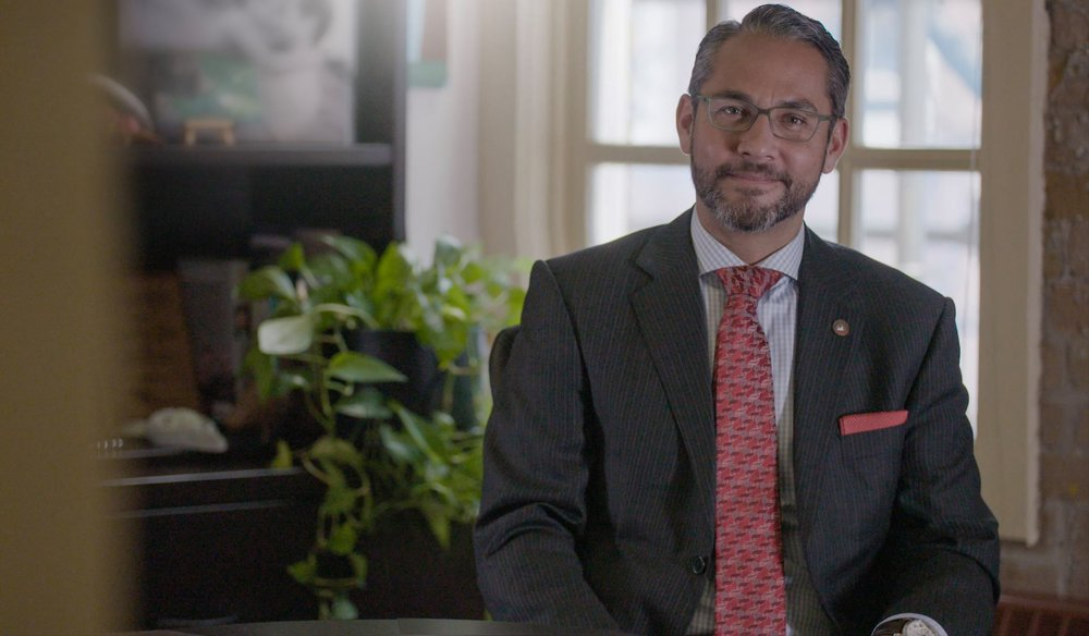 JP Gladu in his office