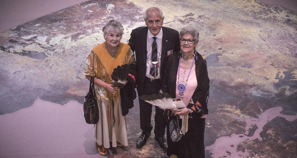 Douglas with two Elders