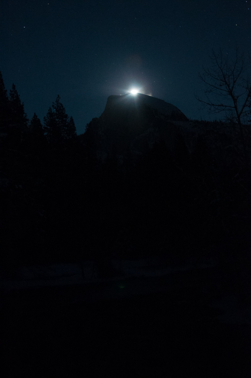 Moonrise over Half Dome - Dec. 28 2015