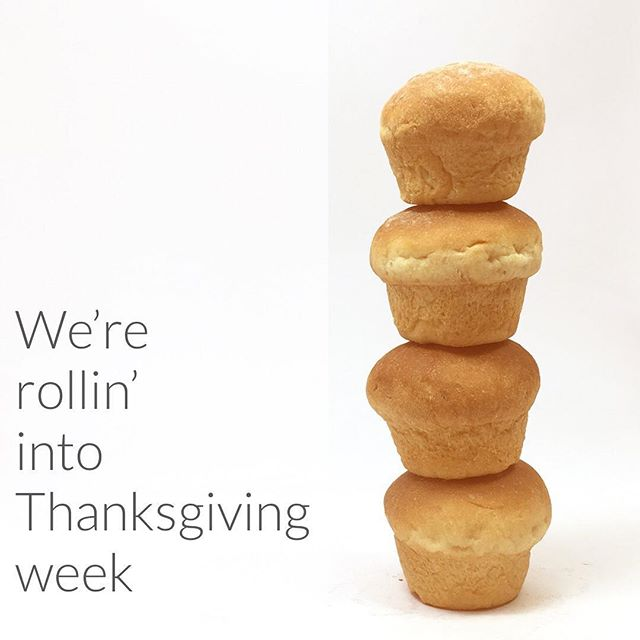 THIS Thursday is our big Thanksgiving baking day! Our menu is FULL of your holiday favorites (dinner rolls and cinnamon rolls anyone?). Don't worry, we'll tell you how to keep them fresh til your celebrations next week! {Use code GIVETHANKS for 20% off your order.} #bakingherefeedingthere #ourcarbsdogood #orderbywednesday