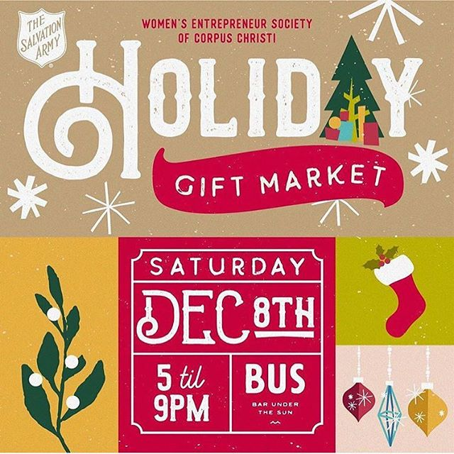 Come out tonight for some fantastic local shopping! Well have our goods available and a portion of each sale goes back to our local @salarmycc serving CC. See you tonight!