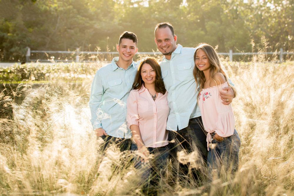 Angel Jr., Damaris, Angel Sr., and Gabriela