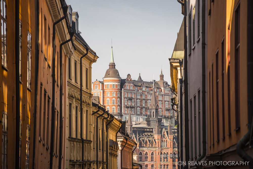 View of Mariaberget from Gamla Stan, Stockholm, Sweden