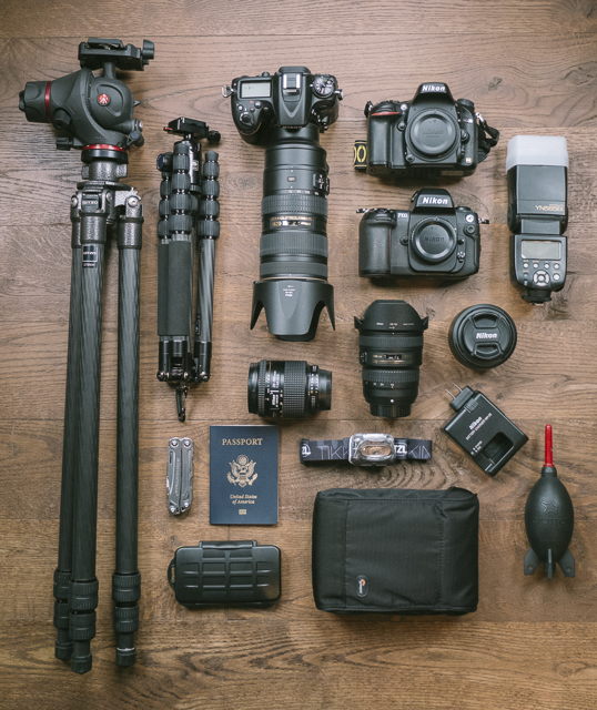 Some of the essential gear I have used for travel and nature photography.