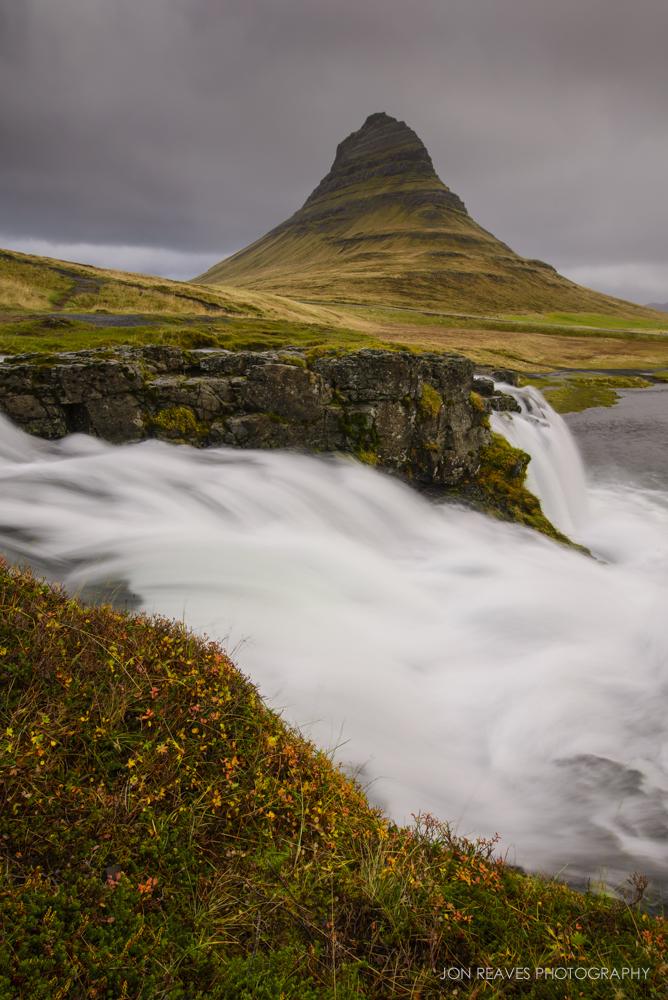 Kirkjufellsfoss and Autumn Colors, Snaefellsnes Peninsula