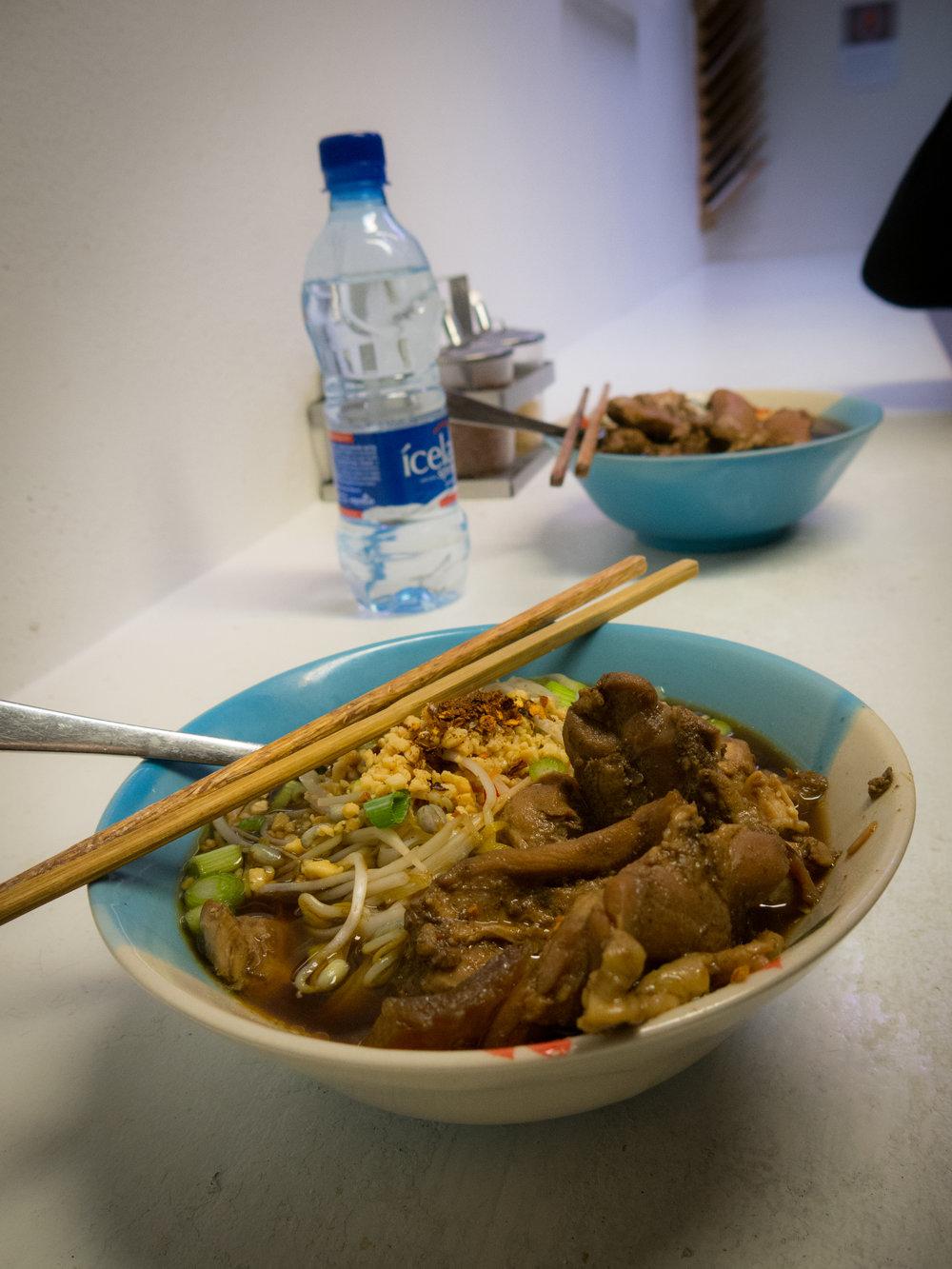 Ugly food is the best food! Thai chicken noodle soup at Noodle Station, Reykjavik