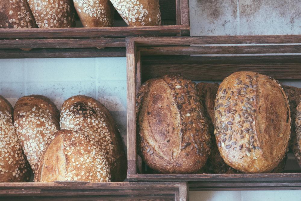 Bread on display at Sandholt, Reykjavik, Iceland