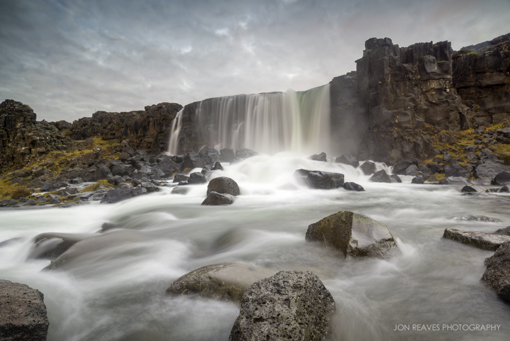 "Öxarárfoss (""Axe Falls""), Thingvellir National Park, Iceland. (Nikon D600, Nikkor 18-35G, Nisi V5 Polarizer, Lee 0.9 Graduated ND filter,    Sirui   T-025x Carbon Fiber Tripod with C-10 Ball Head)"