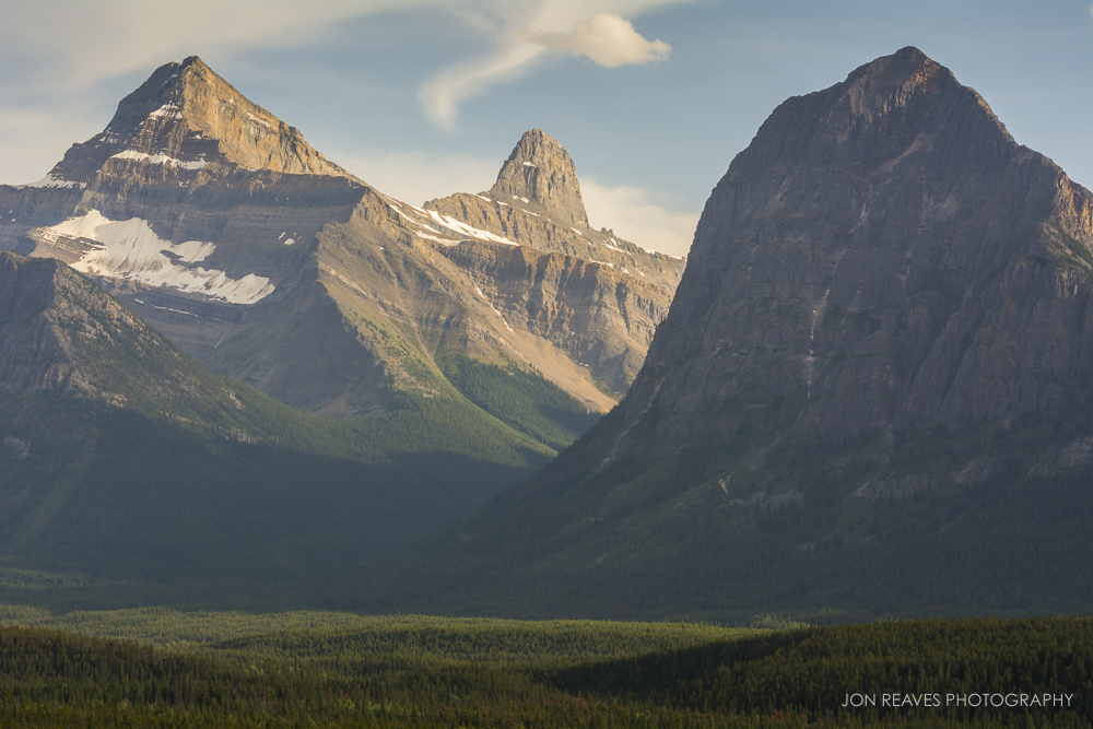 Mount Christie and Brussels Peak from the Banks of the Athabasca River, Jasper National Park