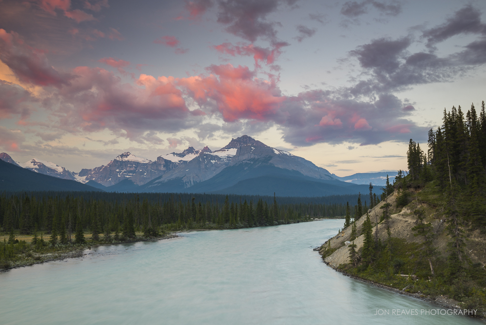 Saskatchewan River Crossing at Sunrise, Banff National Park