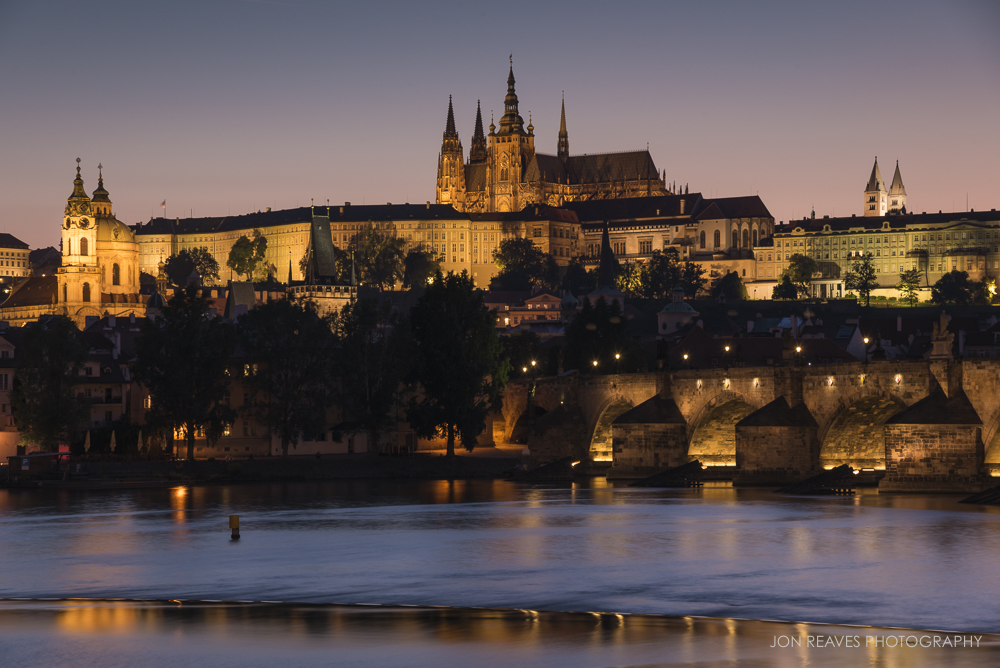 Prague Castle at Twilight, Prague, Czech Republic
