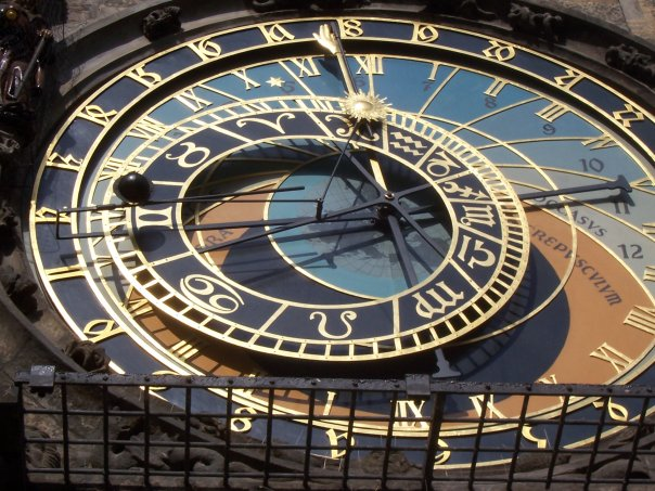 Prague's famous Astronomical Clock, March, 2006