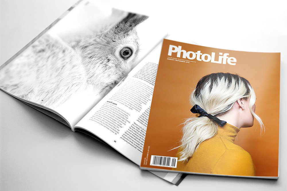 "PhotoLife  magazine (English) featuring my article   ""Embrace the Grain."""