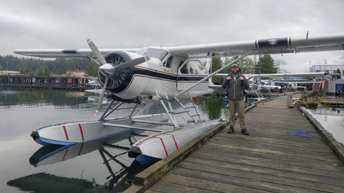 Waiting to board the float plane to the Khutzeymateen Grizzly Sanctuary,  British Columbia, May 2018