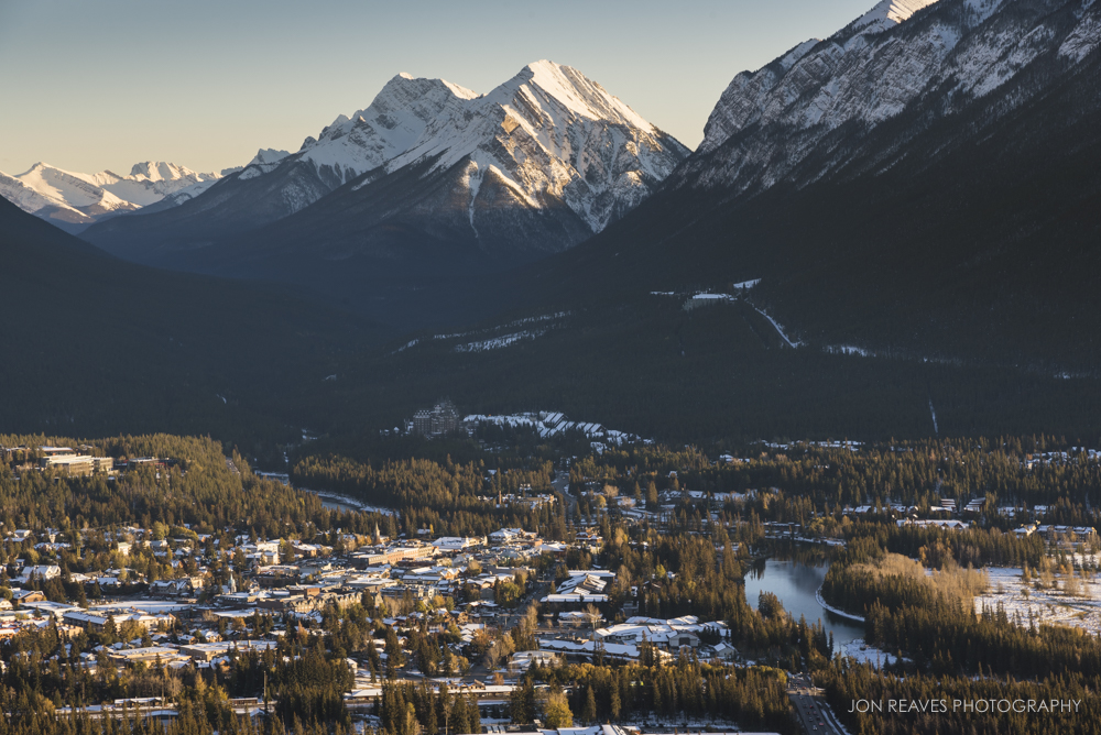 Banff Townsite from Banff Viewpoint