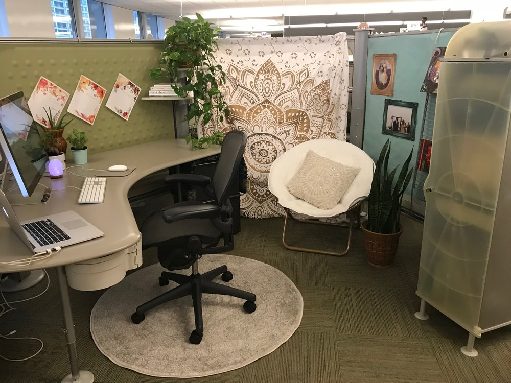 I replaced one of my walls with a tapestry! How casual is your office?