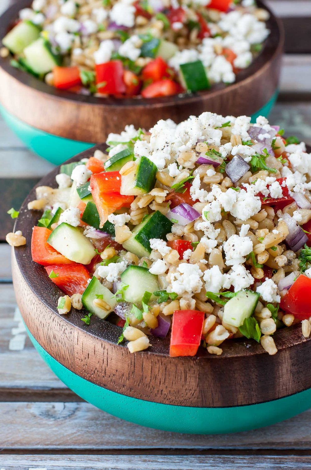 Greek Freekeh Salad