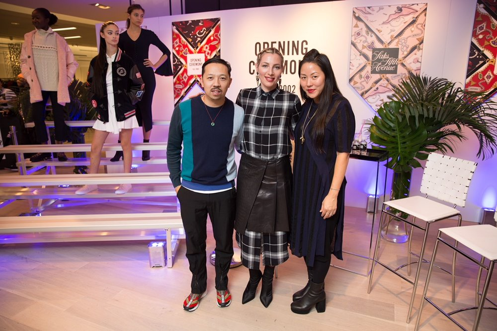 With Humberto Leon and Carol Lim, founders & designers of Opening Ceremony