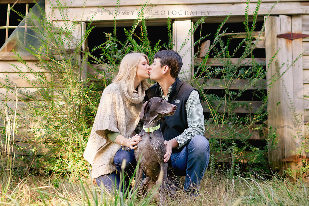rustic-engagement-with-dog