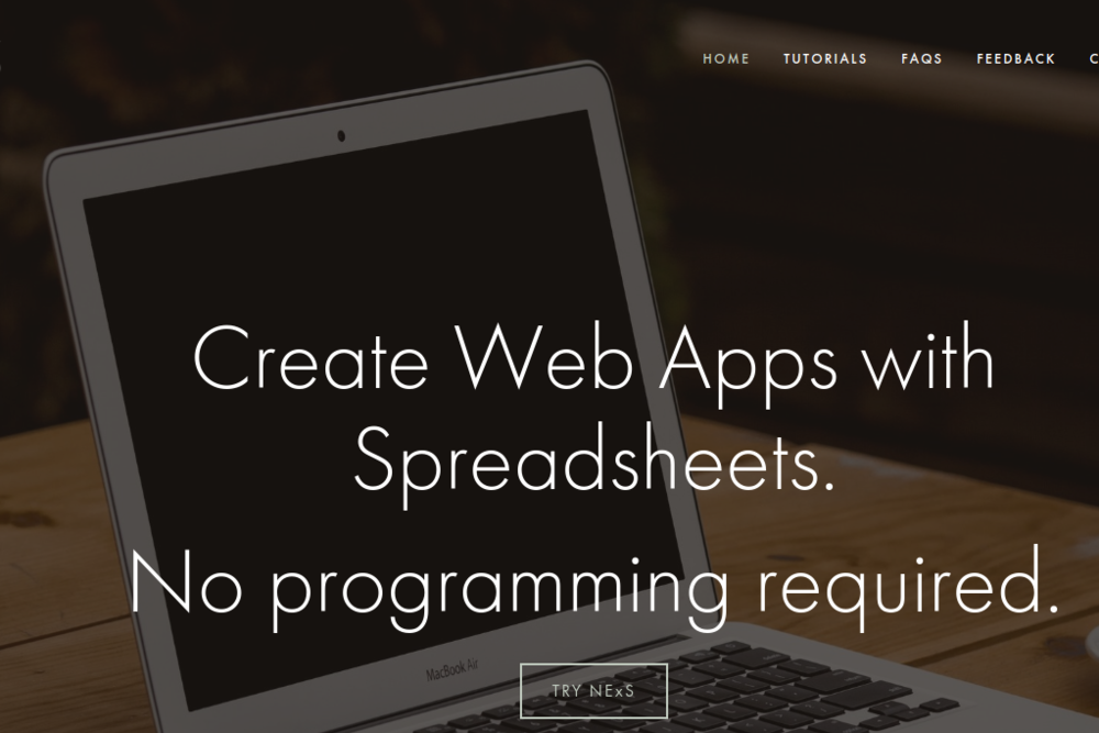 NExS Web App Creator