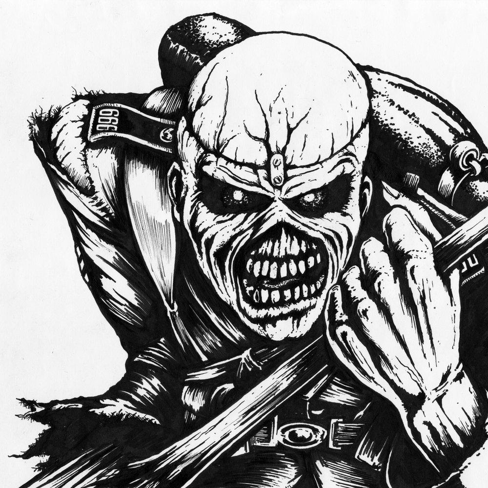 Iron Maiden Eddie Stencil Wwwtopsimagescom