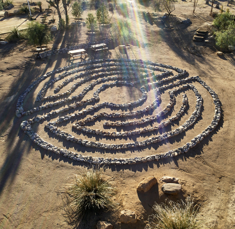 """The labyrinth turns the simple act of walking into a sacred experience"". ~ Gnosis.                                                    Photography by - Millicent Harvey"