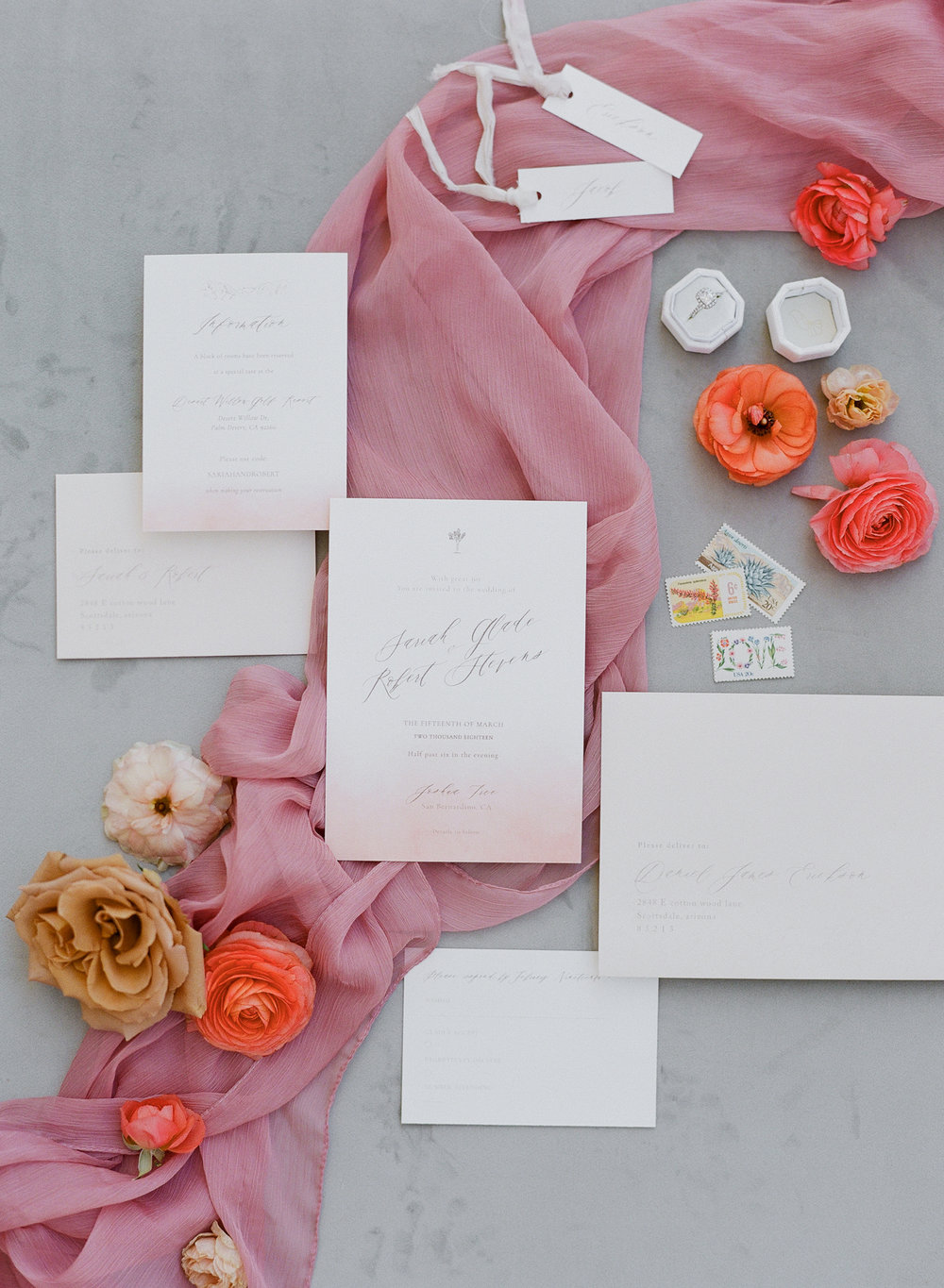 Savan Photography I Oak + Amble flowers I Foil + Ink paper goods I Party Crush Studios linens
