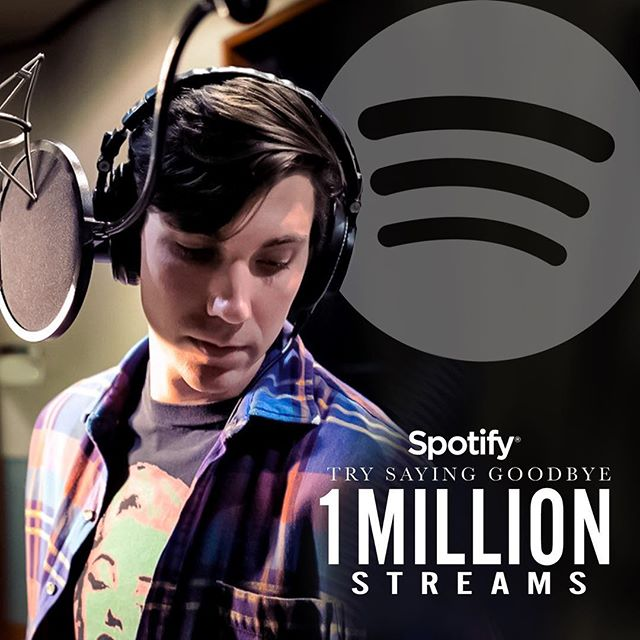 🥇MIL @spotify!! How's that for a #Monday?? Can't thank y'all enough for all the love #TrySayingGoodbye 🎉🍾🕺🏻