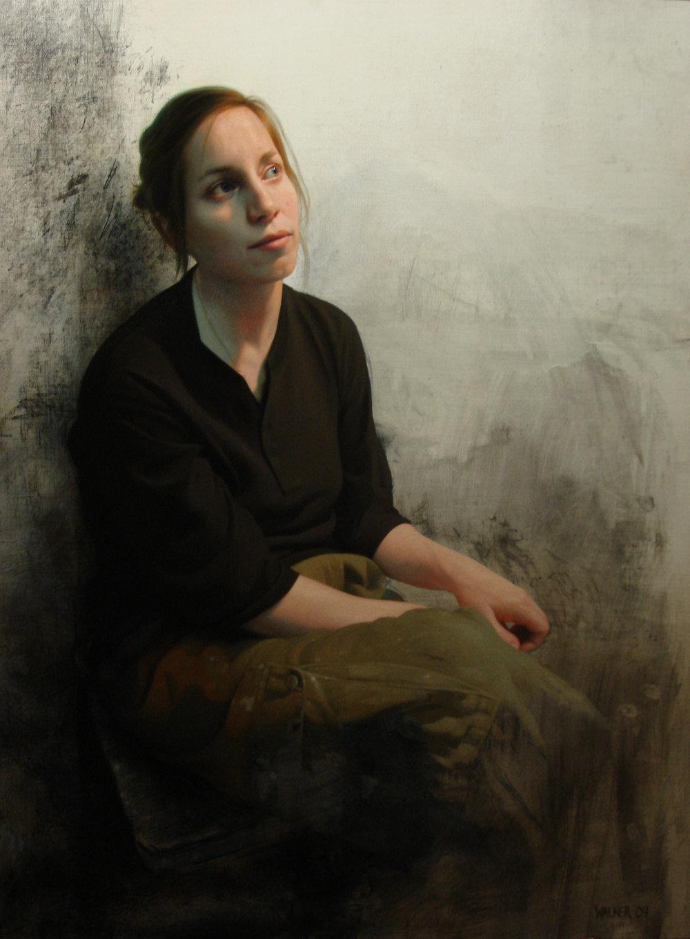 Sophie.Oil on panel.