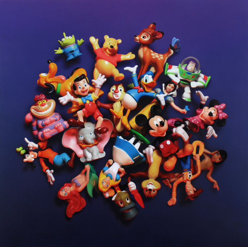 Disney Pile. Oil on panel.