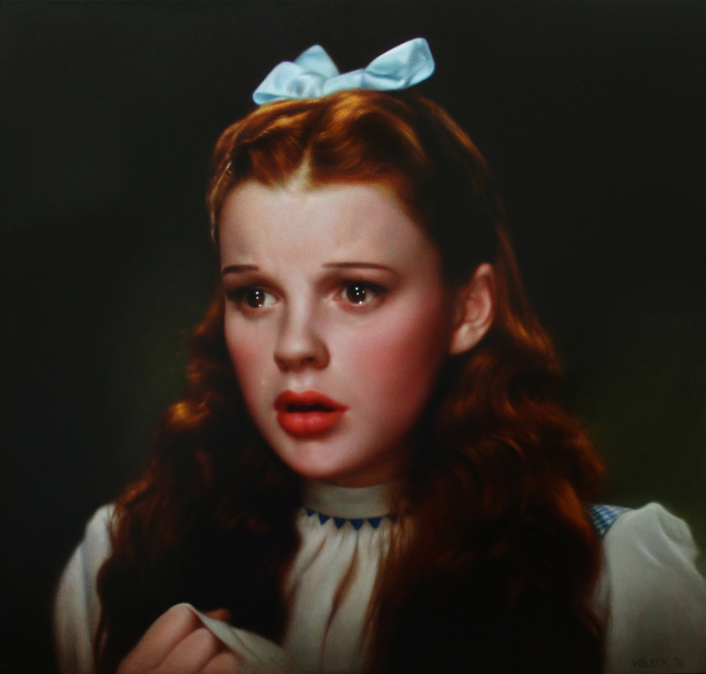 Crying Dorothy. Oil on panel.