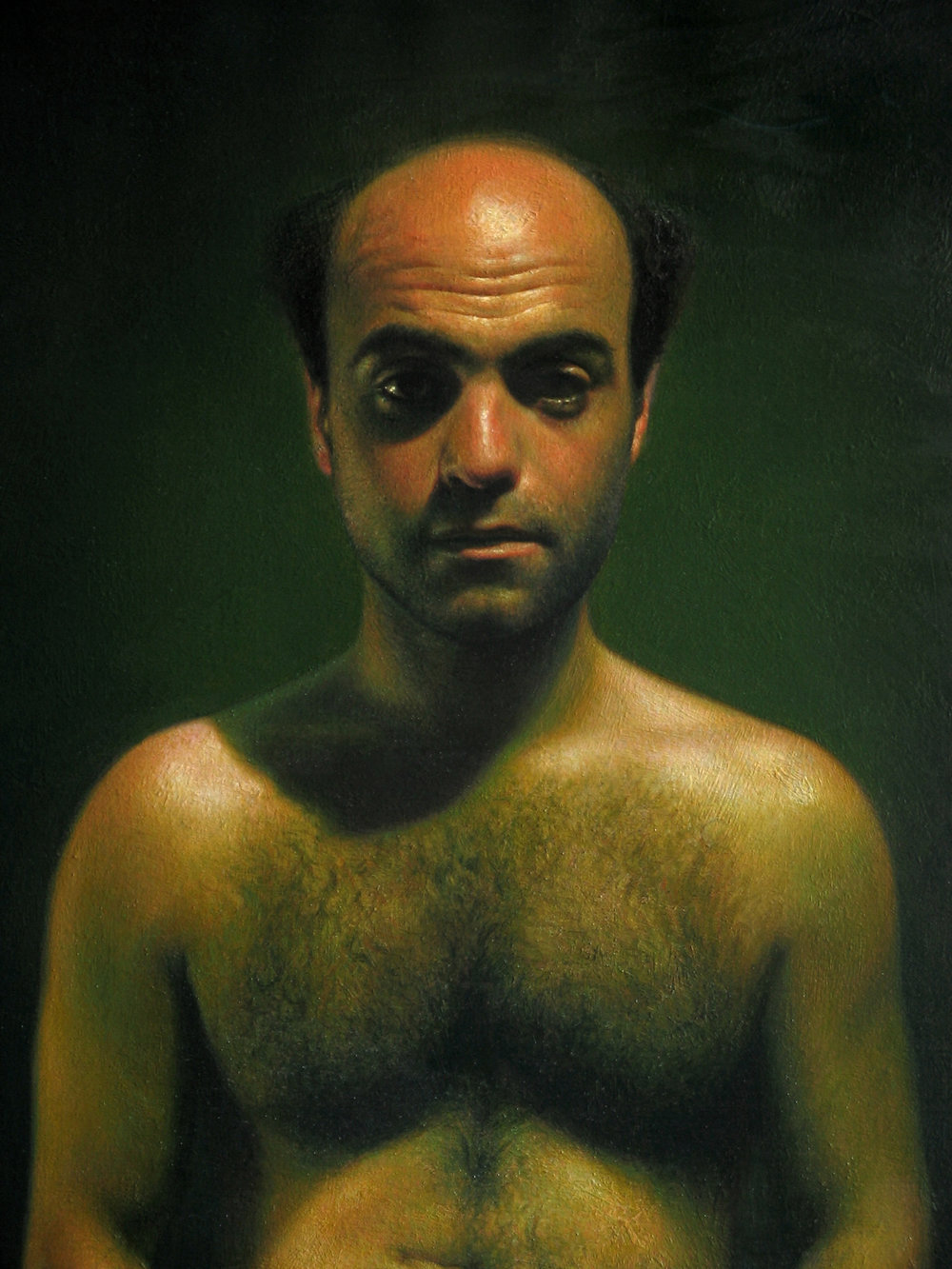 Joe (detail).Oil on canvas.