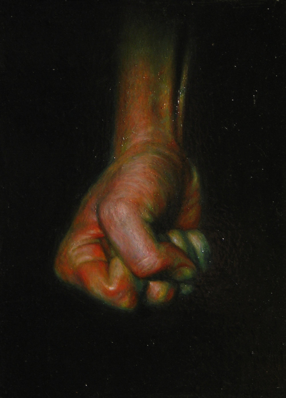 Hand. Oil on canvas.