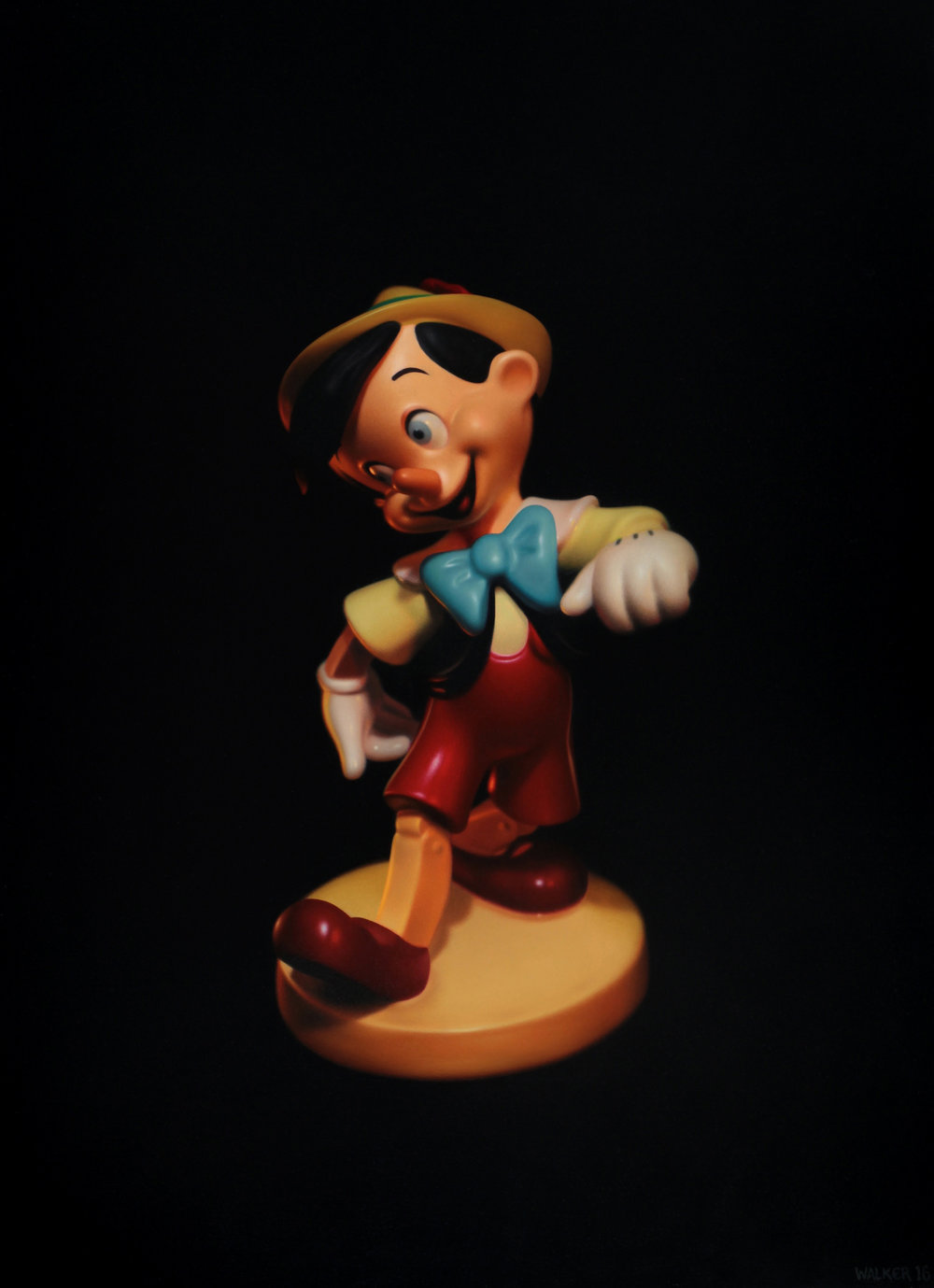 Pinocchio. Oil on panel.