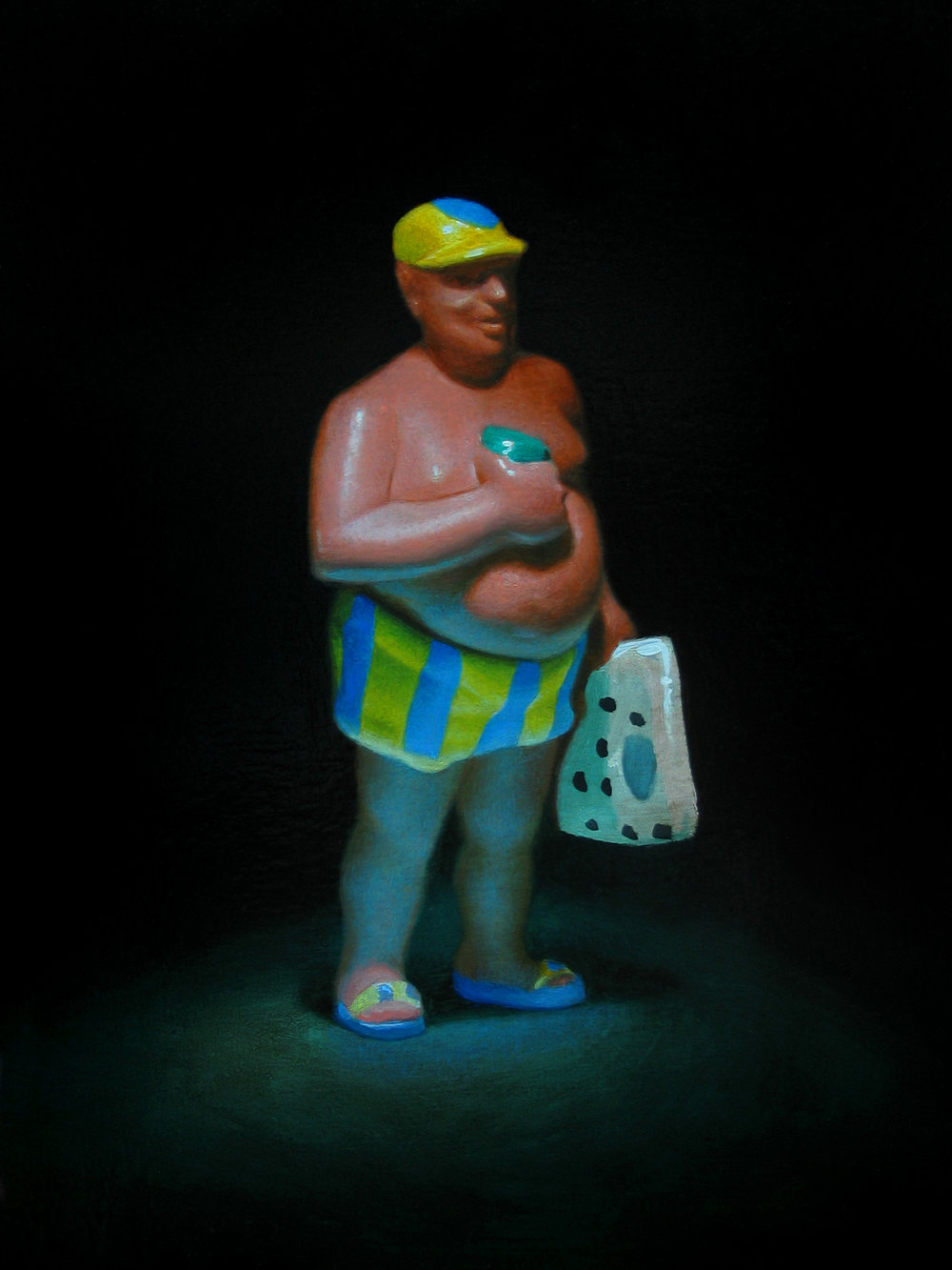 Pool Man. Oil on panel.