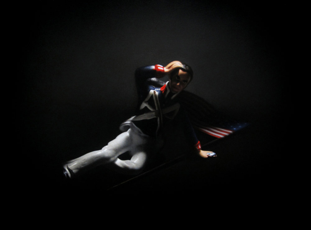 Fallen American. Oil on Panel.