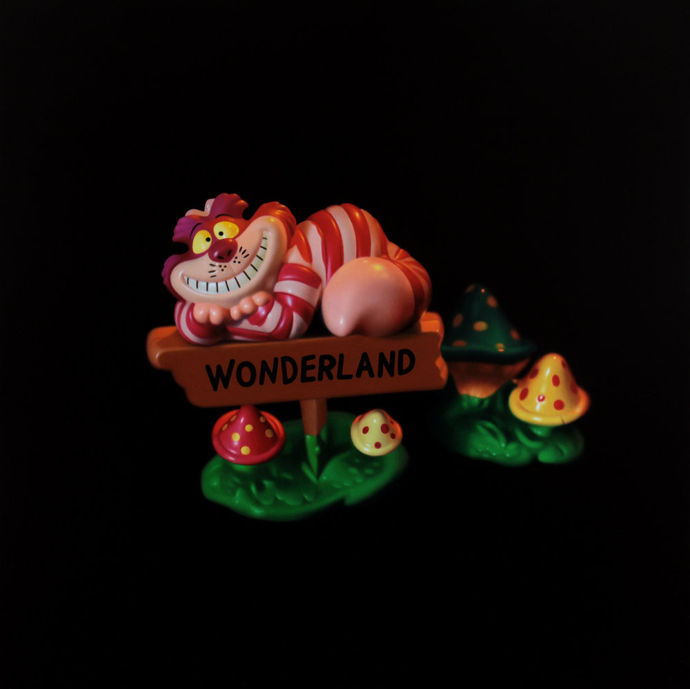 Cheshire Cat. Oil on panel.