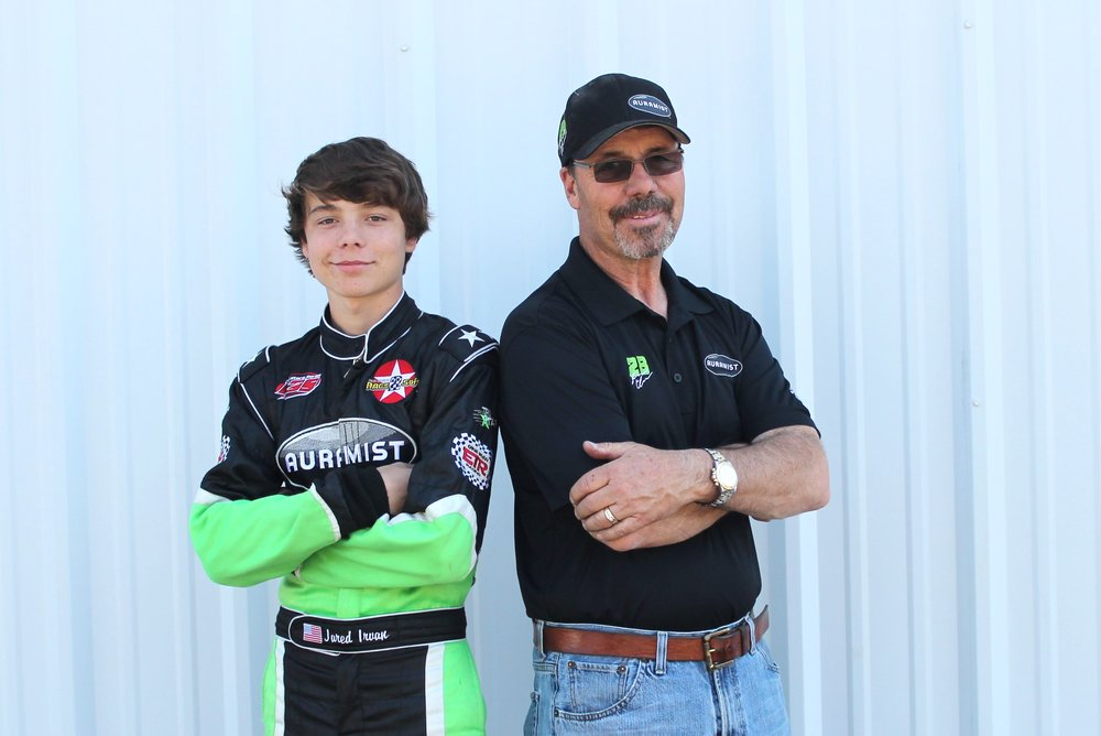 Jared Irvan with father, Ernie Irvan