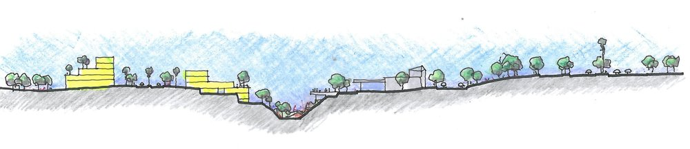Section Sketch for Barwa Master Plan