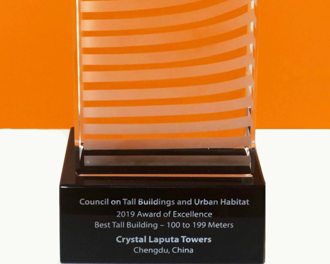 CTBUH Award Excellence for Crystal Laputa Towers