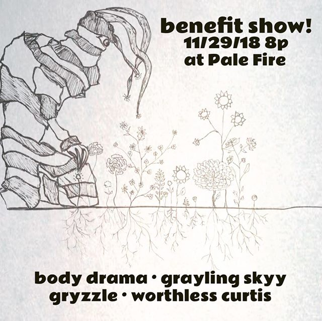 Benefit show next week!! Come out Thursday at 8pm to @palefirebrewing and see... @graylingskyy • @gryzzlebigband • @slackercountry • @body_drama • Suggested donation $5-$10 • • • • • • #artmatters #art #benefitshow #hva #palefire #artmobile #downtownharrisonburg #hburgrocks #welovethistown