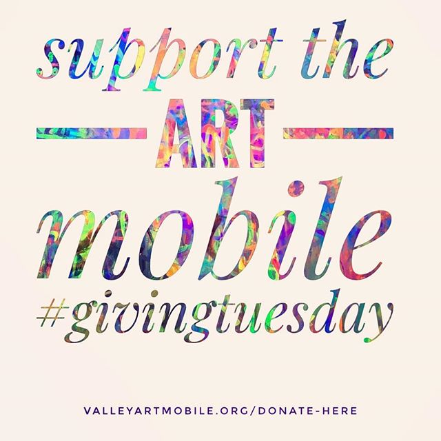 Let us be your charity of choice!• • • • • • • #givingtuesday #artmatters #artmobile #charity #art #create #creativeprocess #community #harrisonburg #thankyou