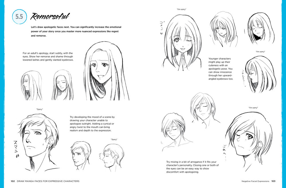 Draw manga faces 102 103 jpg