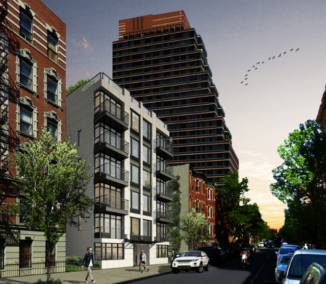 Revealed: 15 West 119th Street, Harlem - The six-story rental building is designed by Melamed Architect, led by Yossi Melamed, and is being developed by the Pielet brothers, Uri and Yoni. It will hold 16 apartments within nearly 11,000 square feet of residential space, with one unit on the ground level, three above that, and two on the penthouse floor.
