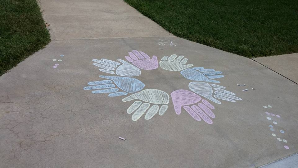 """Maryland School For The Blind """"Chalk"""" mural"""