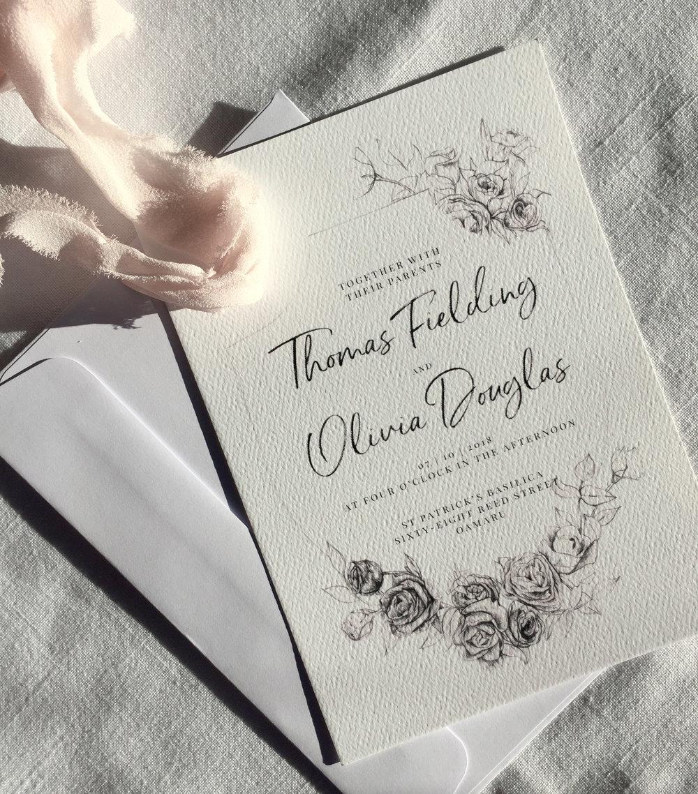 Wedding Invitation // Bella Rosa Semi-Custom Suite