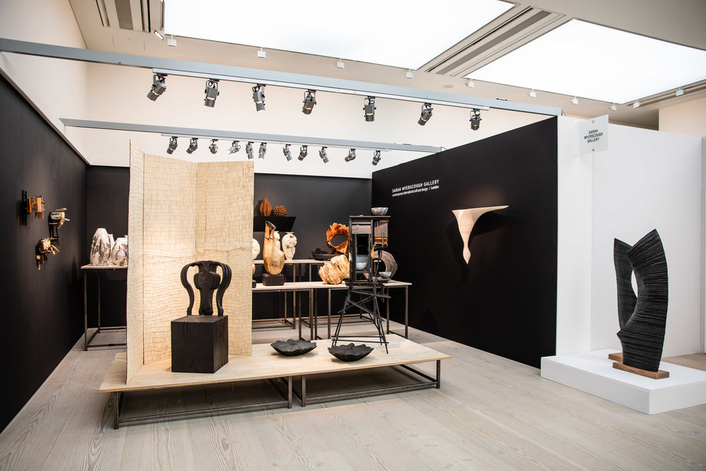 Sarah Myerscough Gallery at Collect 2019, Photo credit: Iona Wolff
